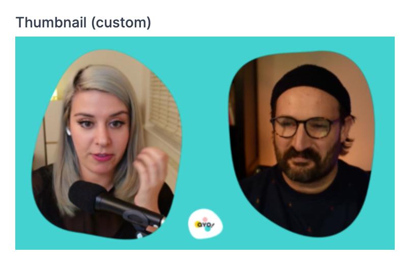 Screenshot of custom thumbnail