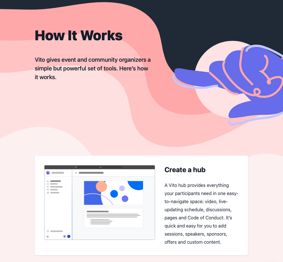 Screenshot of new How it Works page