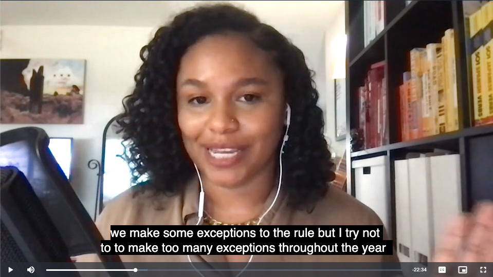 User interface screenshot from Vito of a video with captions